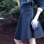 DIY Quilted Vinyl Midi Skirt