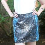 DIY Galaxy Print Mini-Skirt