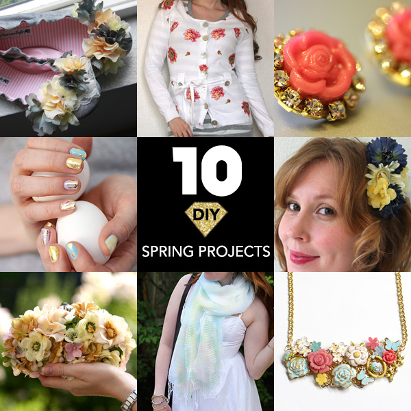 10 DIY Projects for Spring crafts roundup