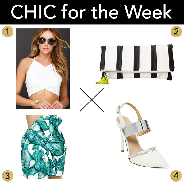 Chic for the Week: My shopping picks for Summer leaf print skirt outfit