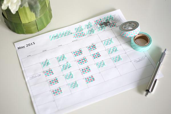 DIY Washi Tape Blog Planner
