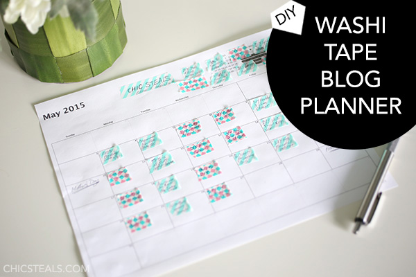 Intro photo for the DIY Washi Tape Blog Planner
