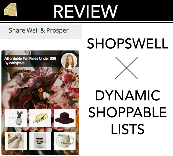 Shopswell website review list screenshot