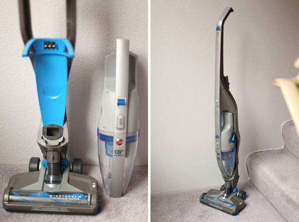 Hoover 2-in-1 cordless vacuum side by side