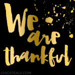 Inspire: We Are Thankful Quote