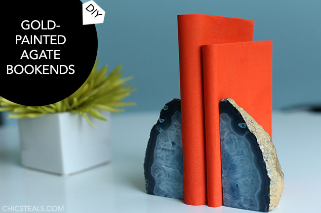 diy-gold-painted-agate-bookends-title-chic-steals