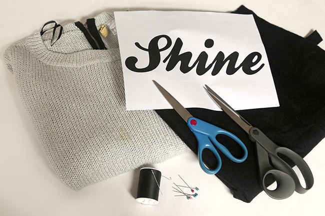 diy-shine-word-sweater-materials-chic-steals