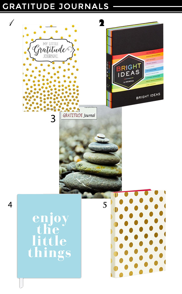 5 Recommended Gratitude Journals by Chic Steals