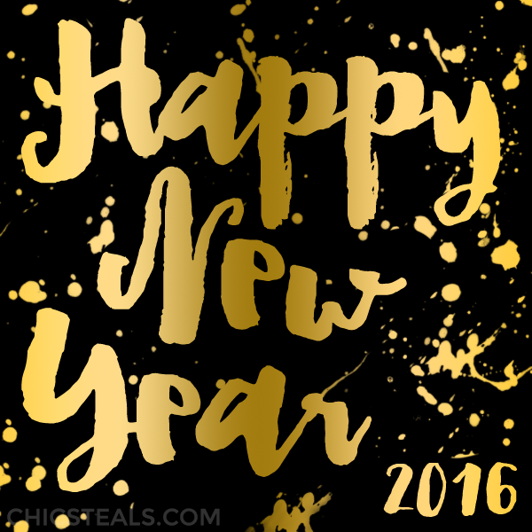 Happy New Year 2016 from Chic Steals