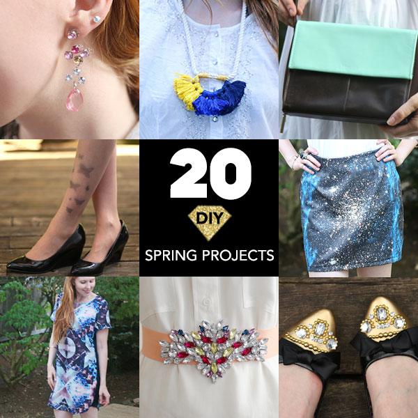 20 DIY Spring Projects by Chic Steals collage