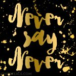 Inspiration: Never Say Never Quote