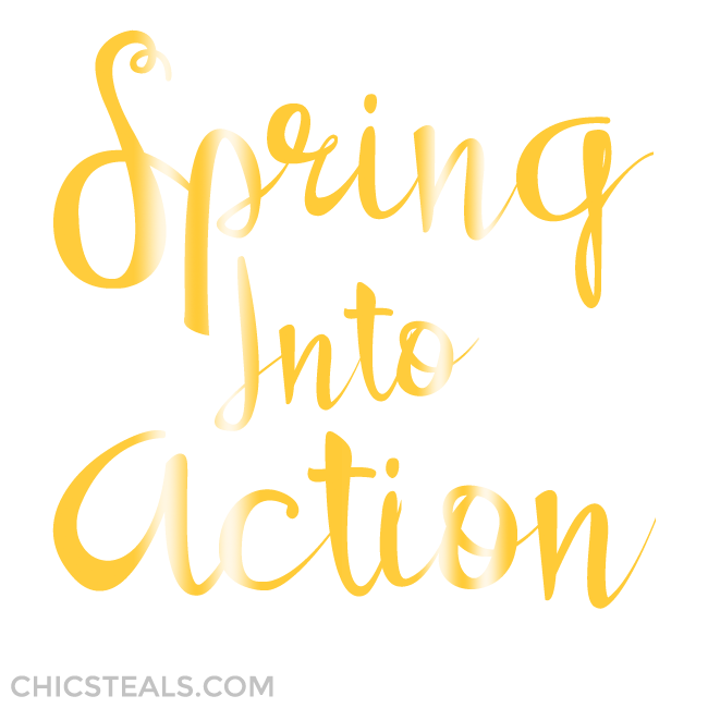 Spring Into Action gold typography by Chic Steals