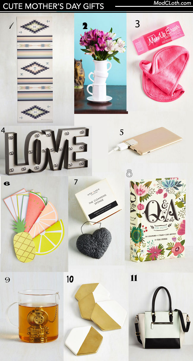 Cute and Quirky Mother's Day Gifts collage