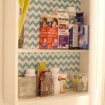 DIY Home: Pretty Patterned Bathroom Cabinet Makeover