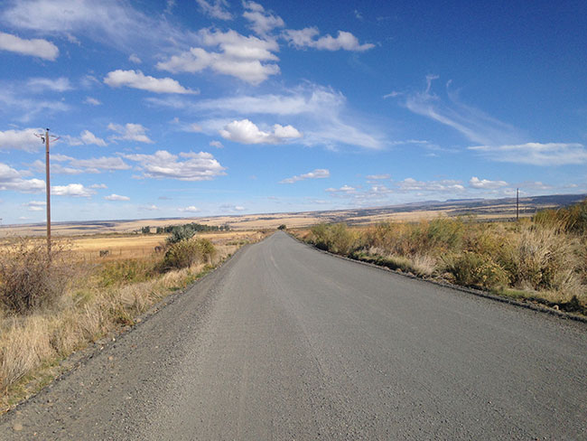Road heading to the horizon at Steens Mountain, Oregon