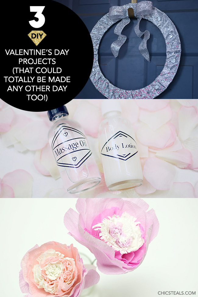 3 DIY Valentine's Day Projects You Could Make Anytime round-up graphic