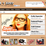 "Featured as a ""Crafty Superstar"" on Cut Out + Keep!"