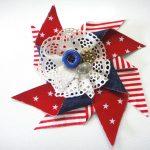 DIY Patriotic Pinwheel Corsage