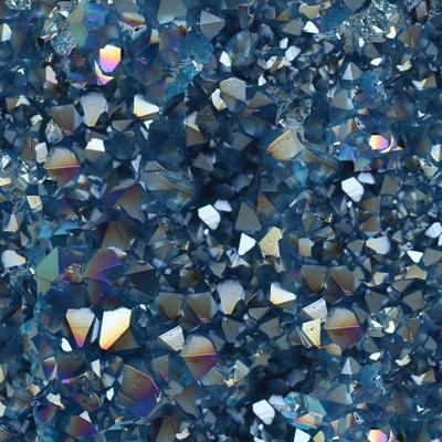 Aqua Aurora Crystal Fabric by Carly J. Cais thumbnail