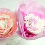 DIY Valentine's Day Crepe Paper Peony Flowers with Paper Mart