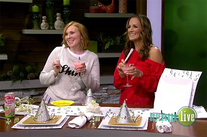 DIY Sparkling Crystal Holiday Table Video on KATU Afternoon Live