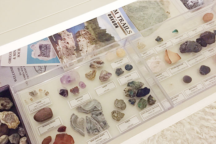 Carly J. Cais' rock and crystal collection
