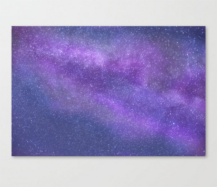 Purple Milky Way Print by CarlyJCais on Society6