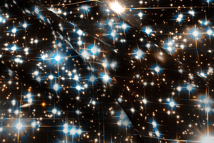 Sparkle Dark Star Field Galaxy by stars + stones on Spoonflower