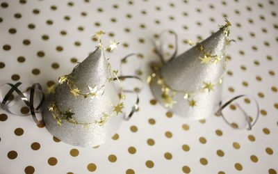 DIY New Year's Eve Shooting Stars Holiday Party Hats