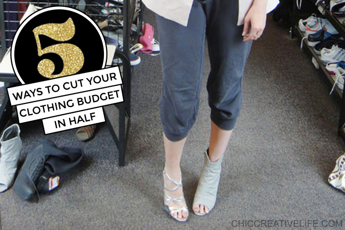 5 Ways to Cut Your Clothing Budget in Half trying on shoes at store
