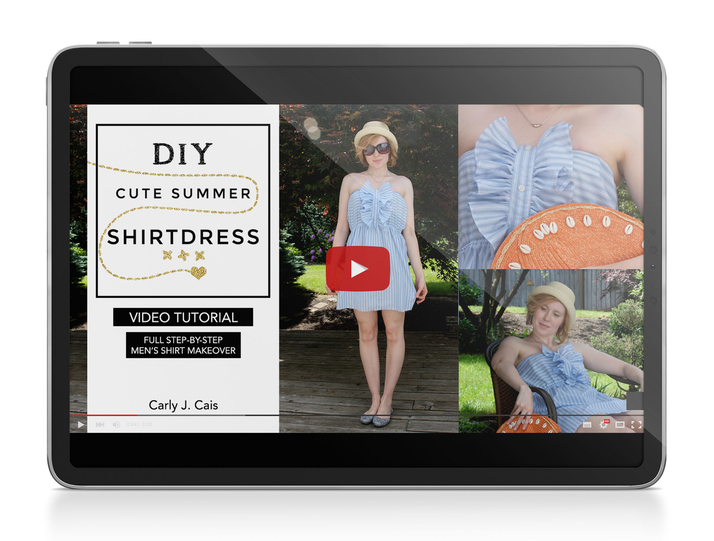 DIY Cute Summer Shirtdress Video Tutorial product