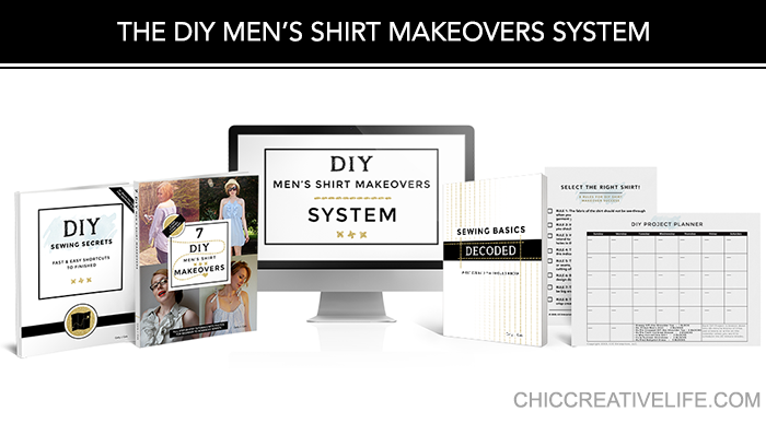 The DIY Men's Shirt Makeovers System product stack