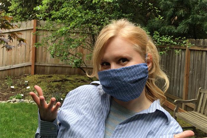 DIY No Sew Shirt Sleeve Face Mask