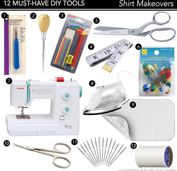 The 12 Must-Have Tools for DIY Shirt Makeovers