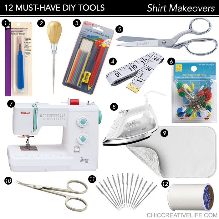 12 Must-Have Tools for DIY Shirt Makeovers