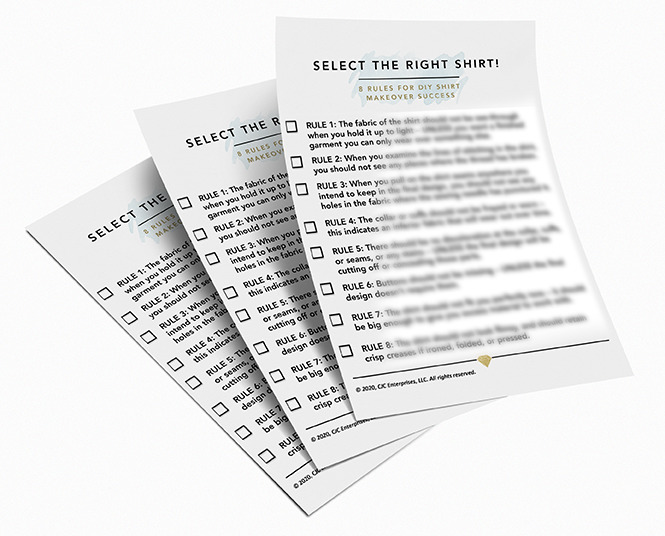 Select the Right Shirt! checklist product