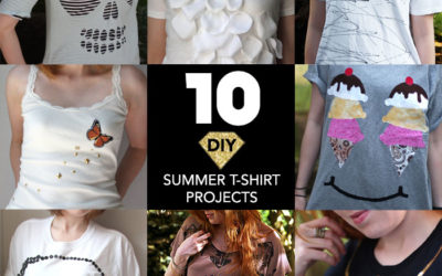 10 Easy No-Sew DIY Projects for Summer Tees and Tanks
