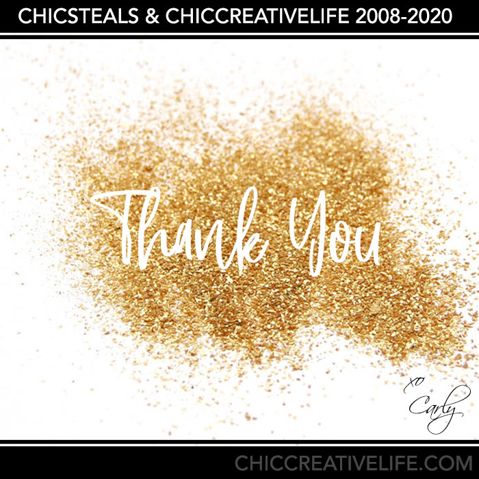 Goodbye to ChicCreativeLife 2020 announcement